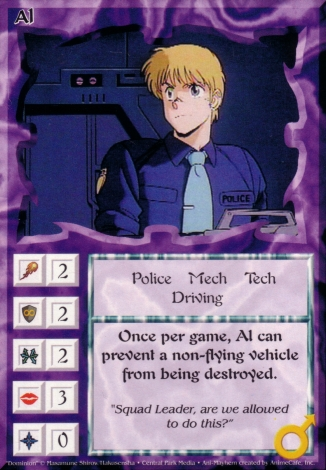 Scan of 'Al' Ani-Mayhem card