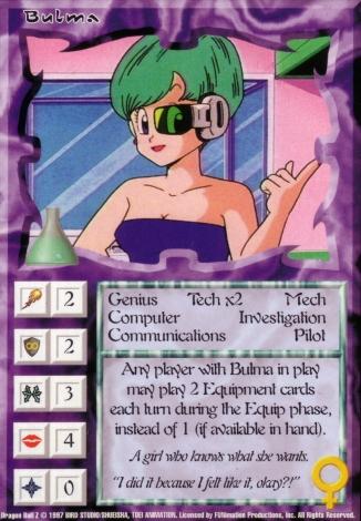 Scan of final 'Bulma' Ani-Mayhem card