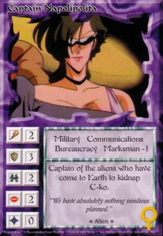 Scan of 'Captain Napolipolita' Ani-Mayhem card