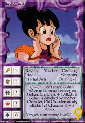 Scan of final 'Chi-Chi' Ani-Mayhem card