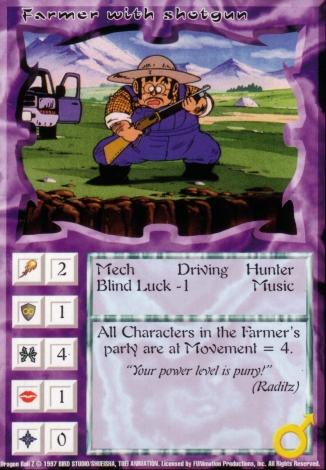 Scan of 'Farmer with shotgun' Ani-Mayhem card