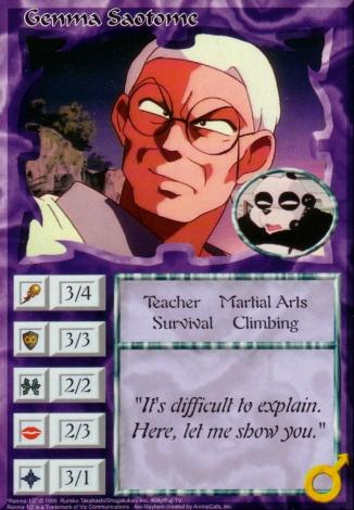 Scan of 'Genma Saotome' Ani-Mayhem card
