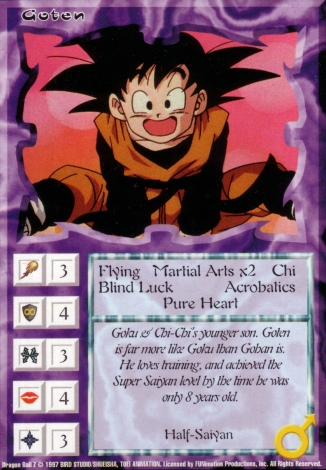 Scan of 'Goten' Ani-Mayhem card