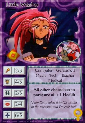 Scan of 'Little Washu' Ani-Mayhem card