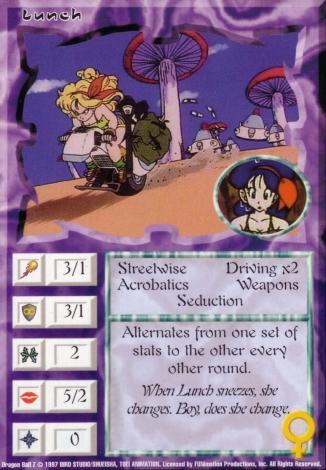 Scan of 'Lunch' Ani-Mayhem card