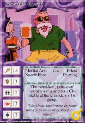 Scan of 'Master Roshi' Ani-Mayhem card