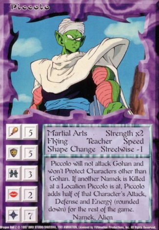 Scan of 'Piccolo' Ani-Mayhem card