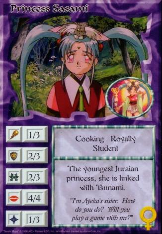Scan of 'Princess Sasami' Ani-Mayhem card