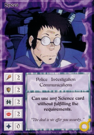 Scan of 'Specs' Ani-Mayhem card