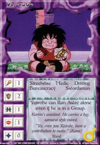 Scan of 'Yajirobe' Ani-Mayhem card