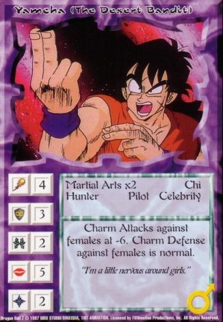 Scan of final 'Yamcha (The Desert Bandit)' Ani-Mayhem card