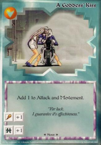 Scan of 'A Goddess' Kiss' Ani-Mayhem card