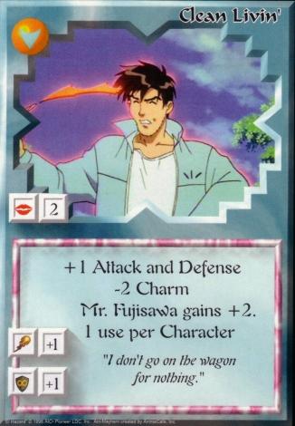 Scan of 'Clean Livin'' Ani-Mayhem card