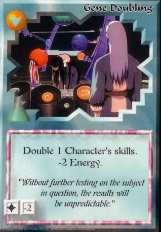 Scan of 'Gene Doubling' Ani-Mayhem card
