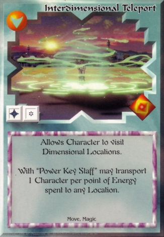 Scan of 'Interdimensional Teleport' Ani-Mayhem card