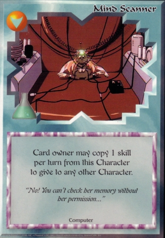 Scan of 'Mind Scanner' Ani-Mayhem card