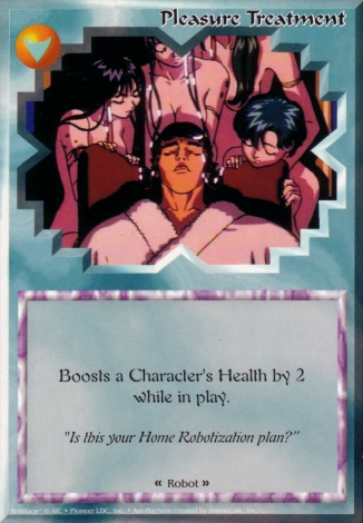 Scan of 'Pleasure Treatment' Ani-Mayhem card