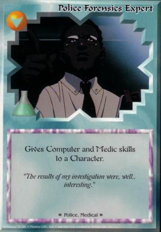 Scan of 'Police Forensics Expert' Ani-Mayhem card