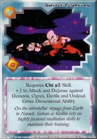 Scan of 'Spirit Fighting' Ani-Mayhem card