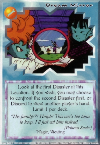 Scan of final 'Dream Mirror' Ani-Mayhem card