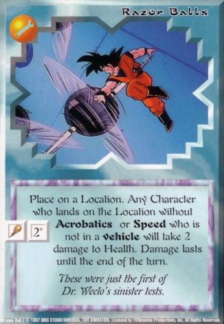 Scan of final 'Razor Balls' Ani-Mayhem card