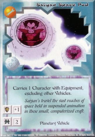 Scan of final 'Saiyan Space Pod' Ani-Mayhem card