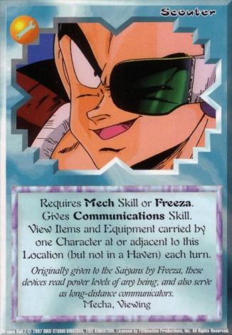 Scan of 'Scouter' Ani-Mayhem card