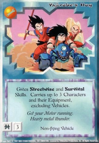 Scan of 'Yajirobe's Hog' Ani-Mayhem card