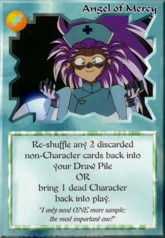 Scan of 'Angel of Mercy' Ani-Mayhem card