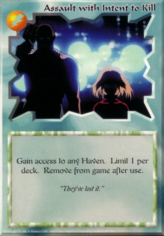 Scan of 'Assault with Intent to Kill' Ani-Mayhem card