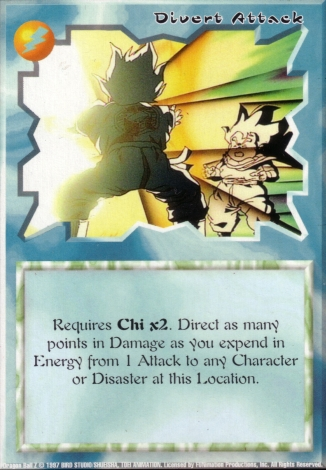 Scan of final 'Divert Attack' Ani-Mayhem card