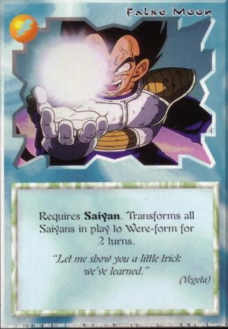 Scan of final 'False Moon' Ani-Mayhem card