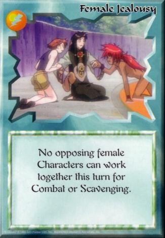Scan of 'Female Jealousy' Ani-Mayhem card