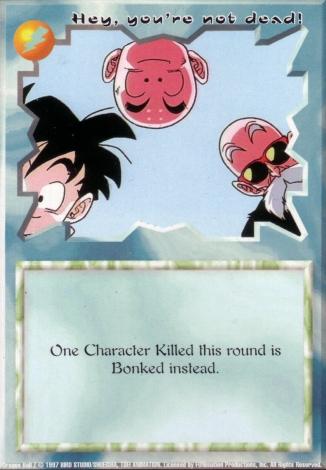Scan of final 'Hey, you're not dead!' Ani-Mayhem card