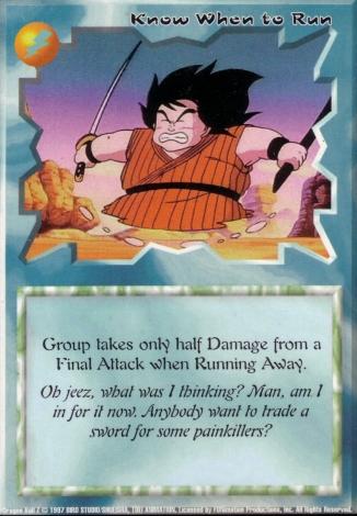 Scan of final 'Know When to Run' Ani-Mayhem card