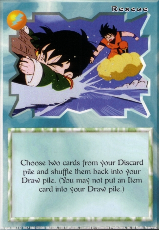 Scan of 'Rescue' Ani-Mayhem card