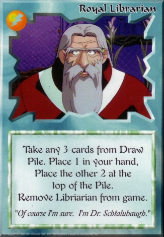 Scan of 'Royal Librarian' Ani-Mayhem card