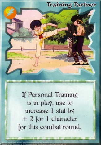 Scan of 'Training Partner' Ani-Mayhem card