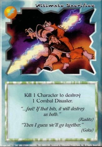 Scan of final 'Ultimate Sacrifice' Ani-Mayhem card