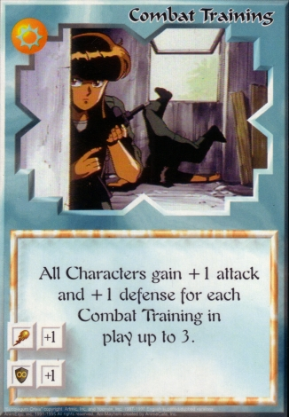 Scan of 'Combat Training' Ani-Mayhem card