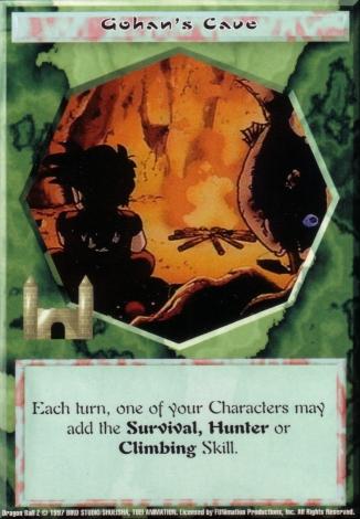 Scan of final 'Gohan's Cave' Ani-Mayhem card