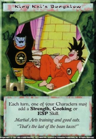 Scan of 'King Kai's Bungalow' Ani-Mayhem card