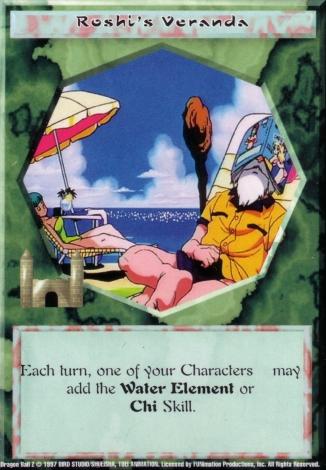 Scan of final 'Roshi's Veranda' Ani-Mayhem card