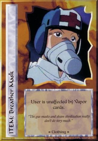 Scan of 'Breather Mask' Ani-Mayhem card