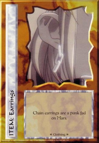 Scan of 'Earrings' Ani-Mayhem card