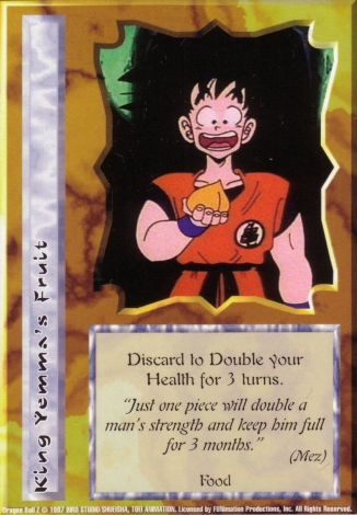 Scan of final 'King Yemma's Fruit' Ani-Mayhem card