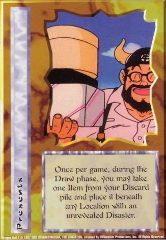 Scan of final 'Presents' Ani-Mayhem card