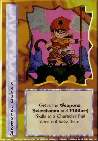 Scan of 'Samurai Gohan' Ani-Mayhem card