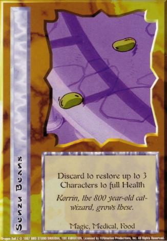 Scan of final 'Senzu Beans' Ani-Mayhem card