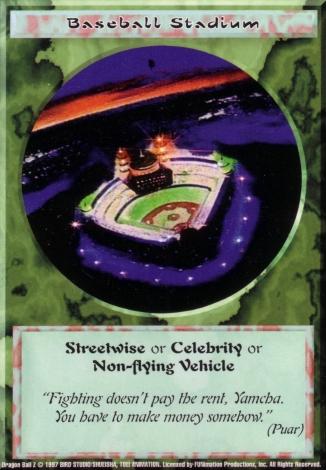 Scan of final 'Baseball Stadium' Ani-Mayhem card